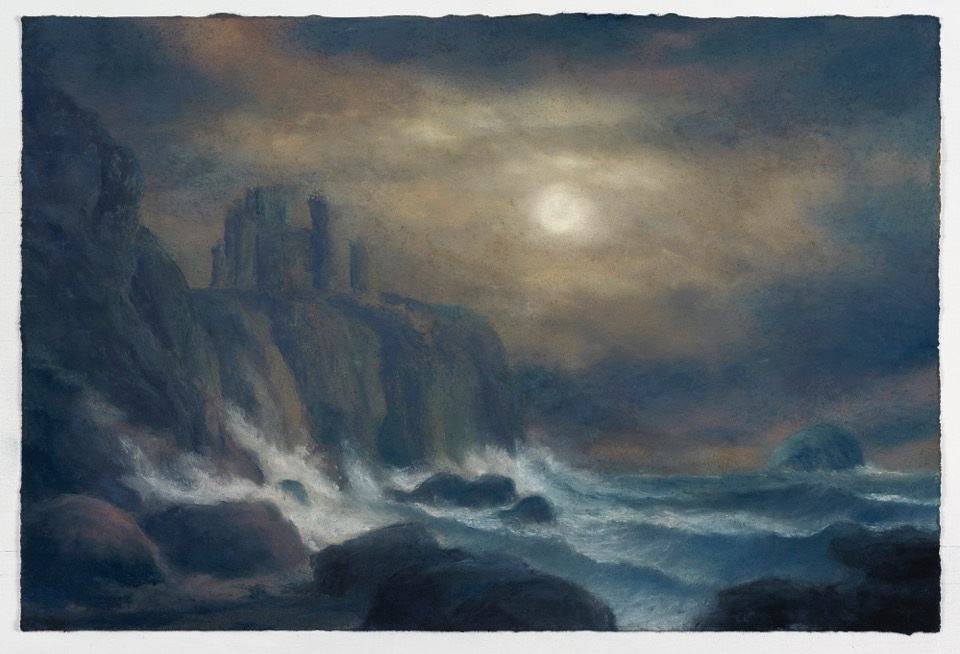 Draper Matthew Moonlit A View of Tantallon Castle with The Bass Rock Homage to Alexander Naysmith