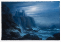 Draper Matthew Illuminated A View of Tantallon castle with The Bass Rock Homage to Alexander Naysmith