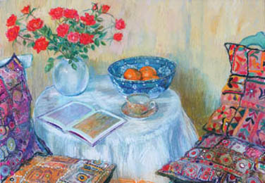 Ambrus Glenys Still life with cushions